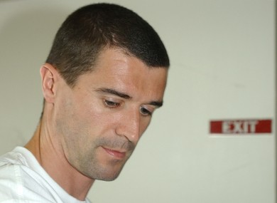 Roy Keane awaits his flight home in Saipan, after being dismissed from the 2002 Republic of Ireland squad.