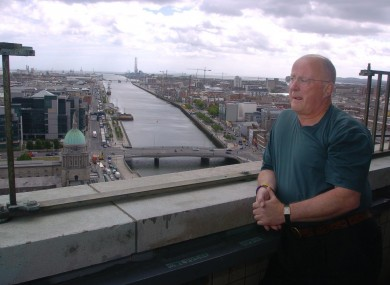 Christy Moore in Dublin. 'it was the first kind of happy song for quite a long time in the city'.