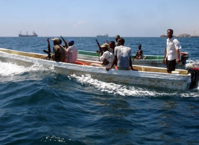 Somali government coast guards patrol the coast of Mogadishu to watch for pirates (File photo)