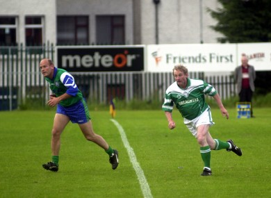 Enda Kenny in action during an Oireachtas match in 2003. Hardcore.