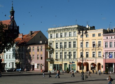 The main square of Bydgoszcz's Old Town. The city expects more than 1,000 football fans to stay during Euro 2012.