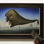 Salvador Dali's painting entitled 'Sleep'(AP Photo/Alastair Grant)