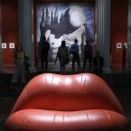 Visitors view artworks at the Salvador Dali at the Pushkin Art Museum in Moscow (AP Photo/Misha Japaridze)
