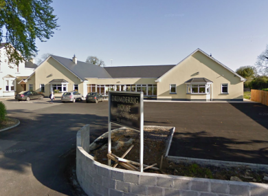 Drumderrig House nursing home in Boyle, Co Roscommon, where two residents have died from a flu outbreak.