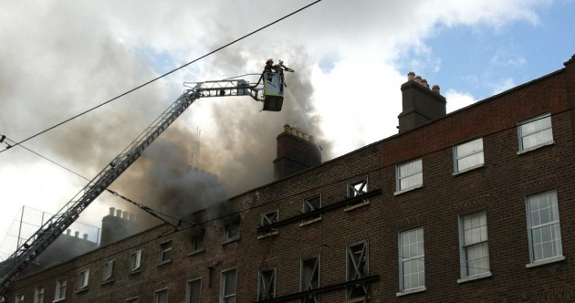Traffic and Luas disruptions after fire closes Dublin's Harcourt Street