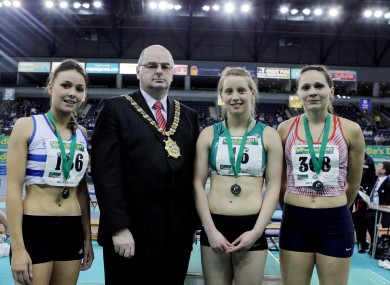 Mairead Murphy (third right) pictured with Lord Mayor of Belfast Councillor Pat Convery.