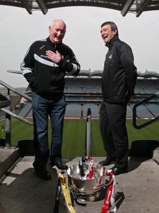 Kilkenny boss Brian Cody and Cork counterpart Jimmy Barry Murphy at Croke Park this week.