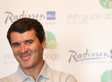 Keane was in Dublin today promoting Irish Guide Dogs for the Blind.