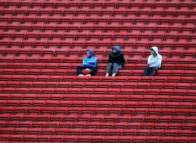 Spectators watch the Munster minor football semi-final in Pairc Ui Chaoimh. Tipperary beat Cork by 1-10 to 1-9.