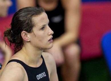 Melanie Nocher, pictured during the European Swimming Championships today.