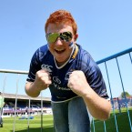 Leinster fan Seán Tester at the RDS Dublin on Saturday. Image: INPHO/Ryan Byrne