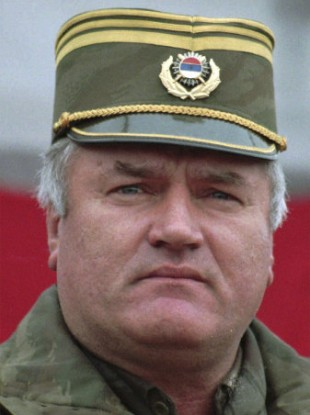 Dec. 2, 1995, file photo Bosnian-Serb General Ratko Mladic
