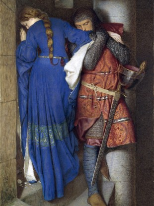 Hellelil and Hildebrand, The Meeting on the Turret Stairs by Frederic William Burton