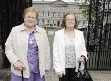 Margaret O'Dwyer, from Nenagh, Co Tipperary, and Catherine McKeever, of Ardee, Co Louth, who spoke to the Oireachtas Justice Committee today.