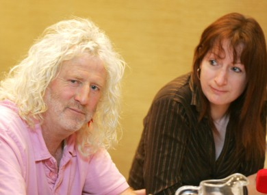 Clare Daly from the Socialist Party with Mick Wallace at a recent press conference.