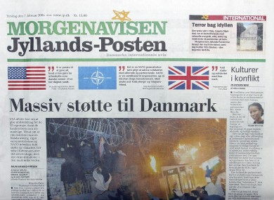 File photo of the Jyllands-Posten after its publication of the controversial cartoons.