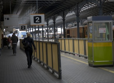 Outbound services at Dublin Heuston will be delayed this morning as a result of vandalism.