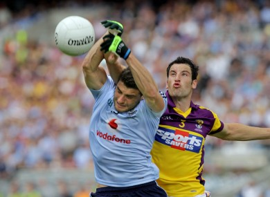 Dublin's Bernard Brogan and Wexford's Graeme Molloy in action in Croke Park in last year's Leinster final.