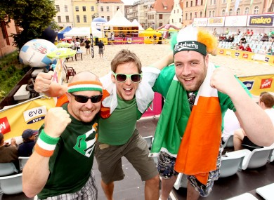 rish fans Tommy Freeman from LA, Darren McCormack from Dublin and Padraig Hayes from Arklow.
