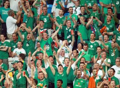 Ireland fans in Poznan last night.