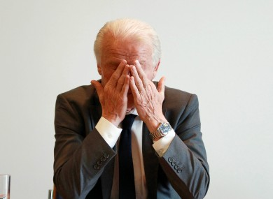 Giovanni Trapattoni at this morning's press conference in Poznan.