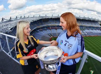 Dublin's Elaine O'Meara (right) and Catherine Doherty of Kilkenny.