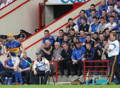 Tipperary boss Declan Ryan sends Lar Corbett into the action before half-time of yesterday's tie.