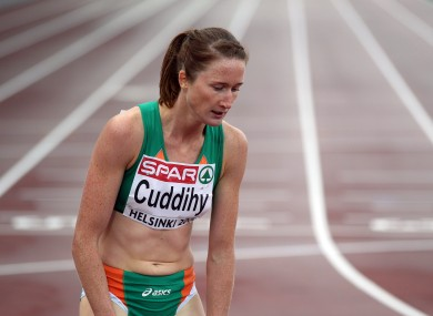 Joanne Cuddihy was disqualified from the 400m heats.