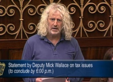 Mick Wallace in the Dáil this evening.