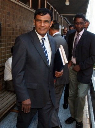 Assistant Commissioner of Police Yoosoof Soopun, who gave evidence at the Supreme court in Port Louis, Mauritius, today during the trial for the murder of Michaela McAreavy.