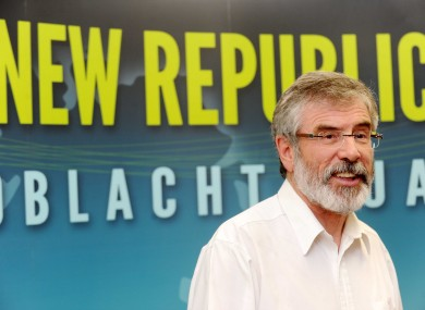 Gerry Adams a press conference announcing the decision this afternoon.