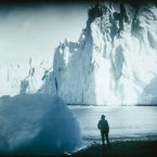 Face of the Neumeyer Glacier in 1915, photographed during the Endurance expedition. (Image: Frank Hurley)