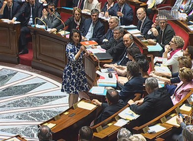 Male MPs hooted and whistled at Cecile Duflot as she presented a routine report to parliament last week.