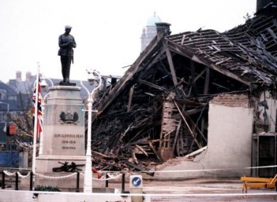 Scene of the IRA bombing in Enniskillen in 1987 which killed 11 people.
