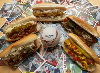 Hot dogs from the home ballparks of five Major League teams...for the day that's in it, you know?!