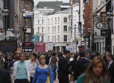 Shoppers on Grafton Street, Dublin