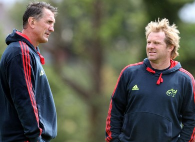 Munster's new coaching supremos - Rob Penney and Simon Mannix.