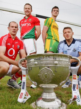 Cork's Alan O'Connor, Mayo's Andy Moran, Leo McLoone of Donegal and Paul Flynn of Dublin are all in All-Ireland quarter-final action this weekend