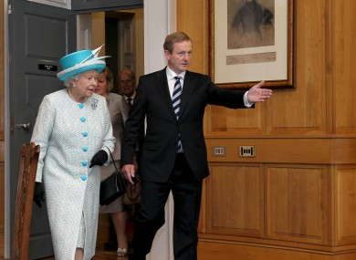 Enda Kenny and Queen Elizabeth II during her visit to Ireland last year