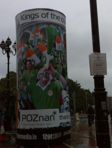 Poznan mayor organises Dublin billboards to thank Irish fans