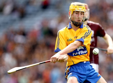 Colm Galvin in action for Clare's minor side last year.