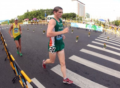 Boyce competing in China last year.