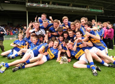 Tipperary players celebrate after last Sunday's Munster triumph.