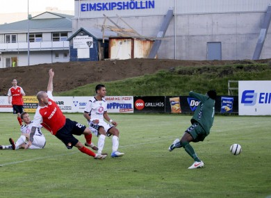O'Flynn scores in extra time last night.