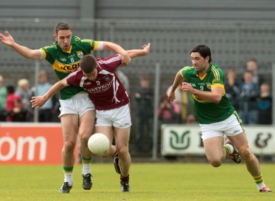 Westmeath's Paul Bannon with Declan O'Sullivan and Bryan Sheehan of Kerry during Sunday's game.