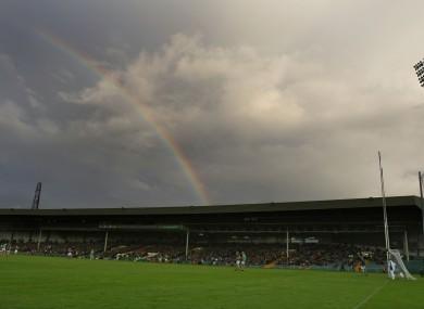 Look! A pretty rainbow.