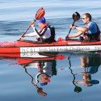 Mark (left) kayaking in the Irish Sea