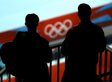Security personnel at the Olympic Games in London.
