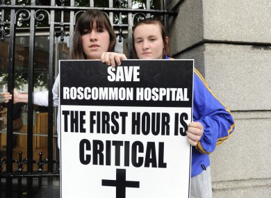 Protesters pictured at Leinster House last year