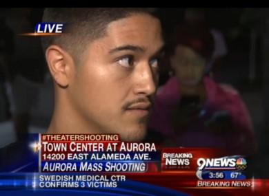 A witness speaks to local station 9 News
